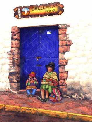 Blue Door, Cusco