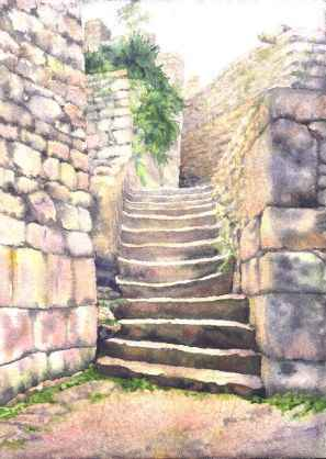 Stairs of Machu Pıchu